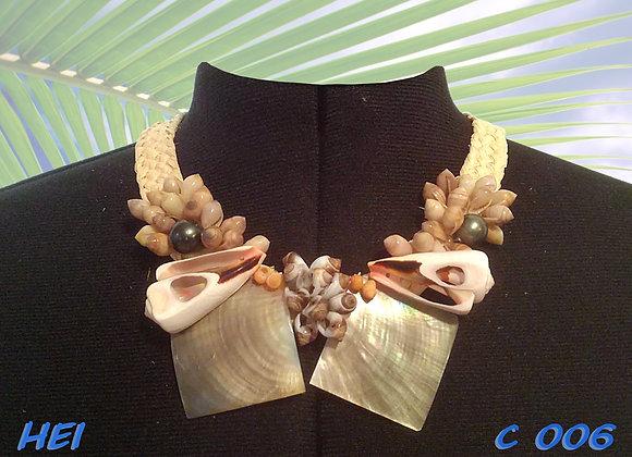 """""""HEI"""" collier Coquillages, Nacres et Perles"""