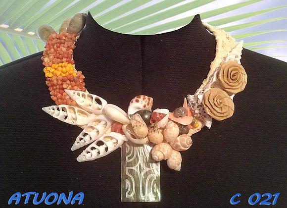 """""""ATUONA"""" Collier de Coquillages, Nacres et Perles"""