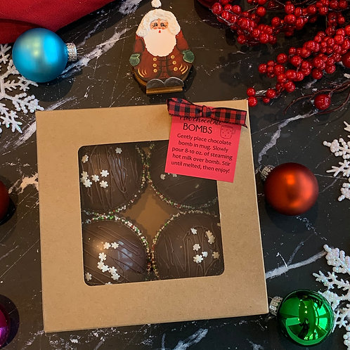 4-Pack Regular Chocolate Hot Cocoa Bombs