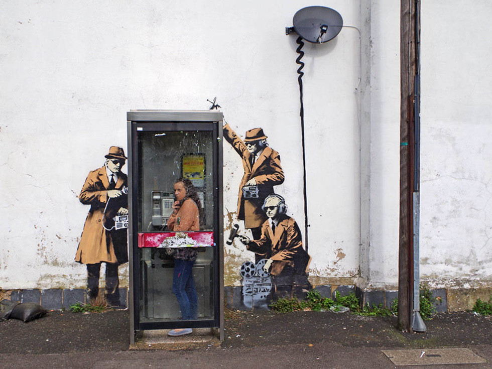Courtesy of Pest Control Office, Banksy, Cheltenham, 2014