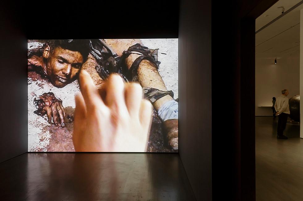 """Touching Reality"""", 2012. Exhibition view: 'Looking Forward', Montreal Biennale, 2014. Courtesy Galerie Chantal Crousel, Paris. Photography Guy L'Heureux / La Biennale de Montréal"""
