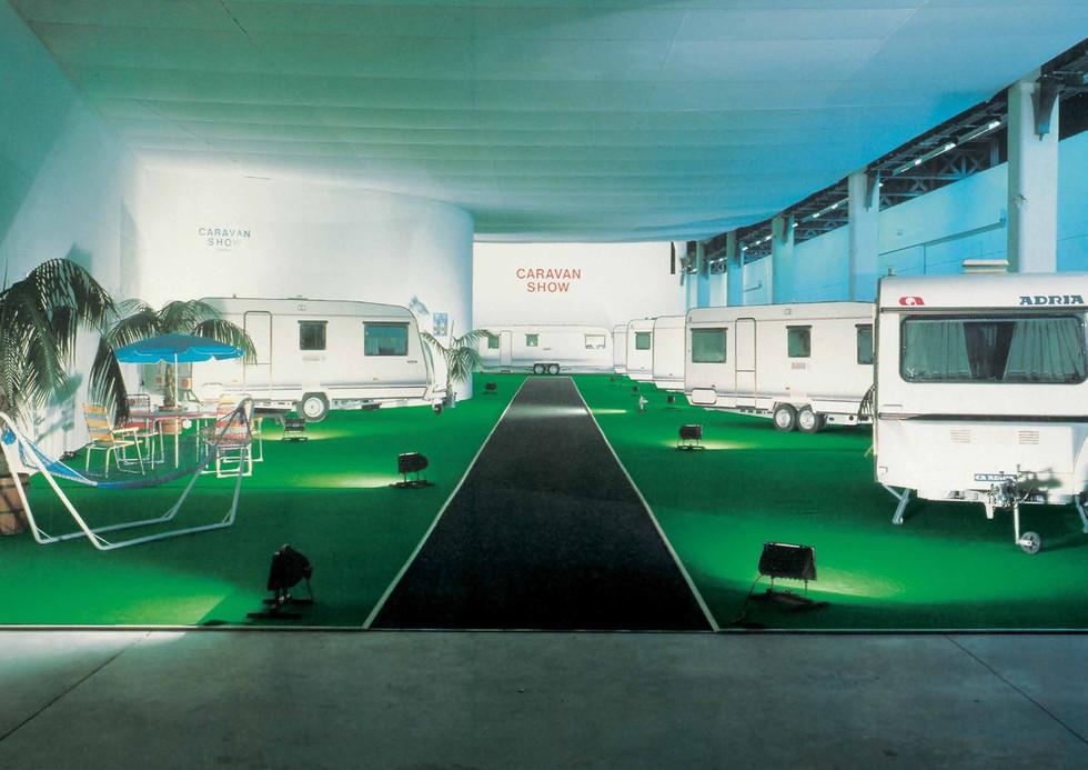 Installation Caravan Show, Le Magasin, Grenoble, 1989