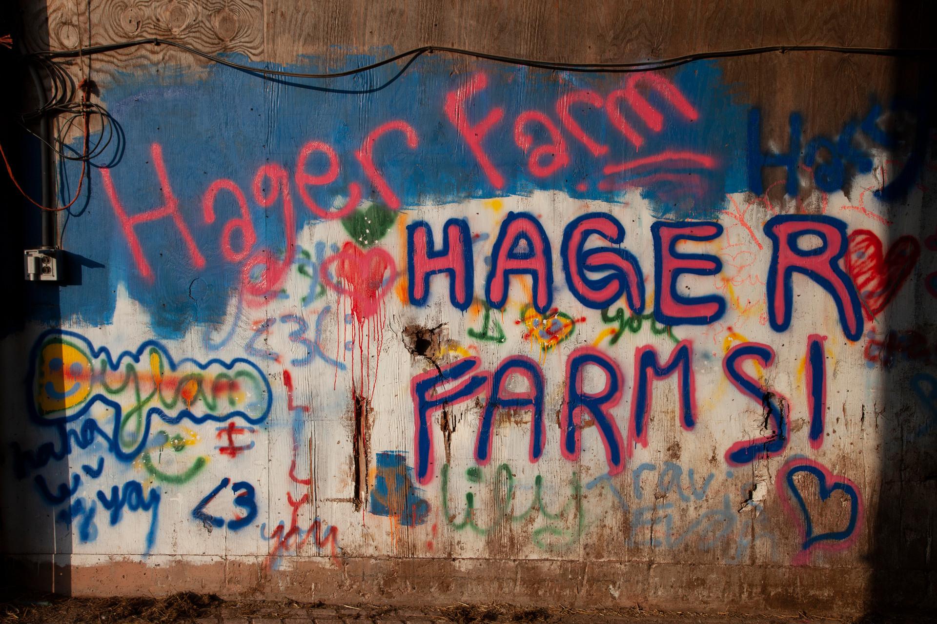 Children's Graffiti at the Hager Dairy Farm. Delaware County, NY, 2016