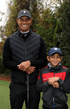 Tiger and Charlie Woods