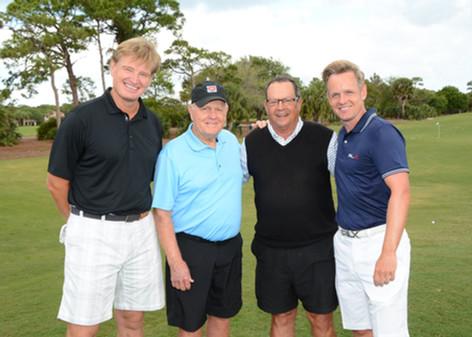 Ernie Els, Jack Nicklaus, and Luke Donald