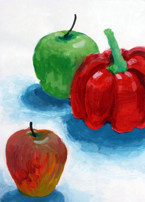 Pepper + Fruit Still Life