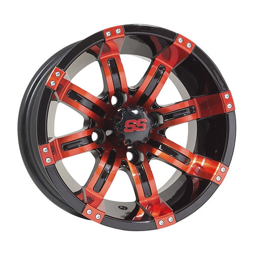 "GTW Tempest 12"" Red & Black Wheel (3:4 Offset)"