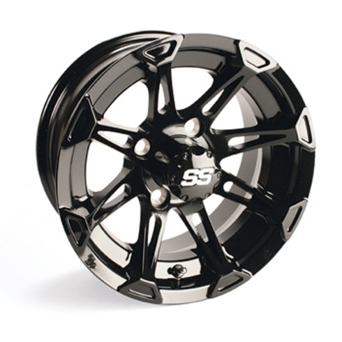 WHEEL, 12X6 EXPLORER SS PAINTED BLACK