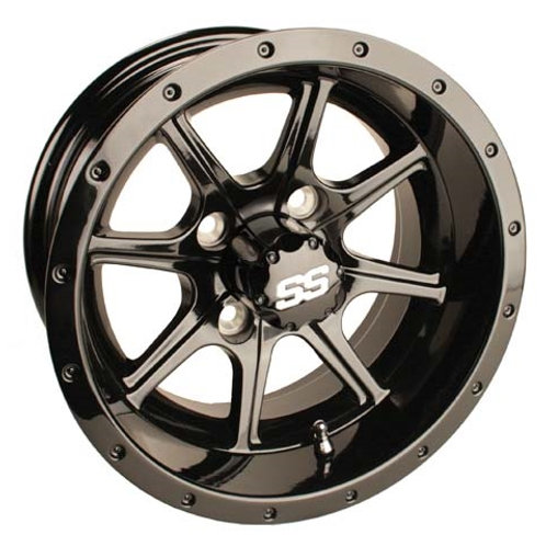 WHEEL, 12X6 TREMOR SS GLOSSY BLACK