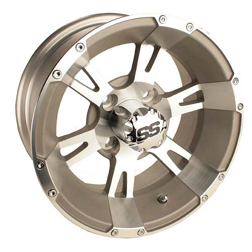 12x6 Machined Silver Yellow-Jacket SS Wheel (2-5 Offset)