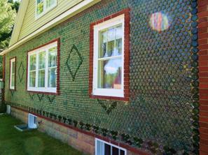 MI Kaleva Bottle House 2b Exterior Wall