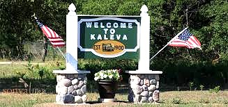 Kaleva Welcome Sign