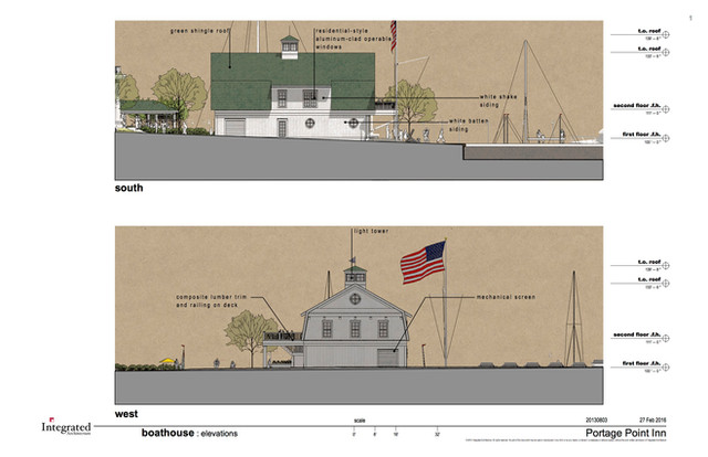 Boat House Rendering - South and West Vi