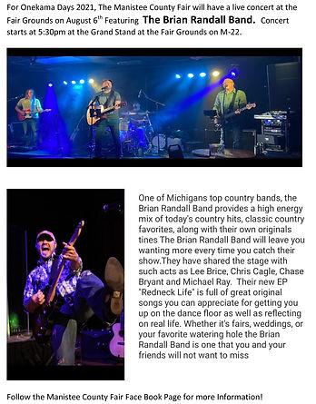 The Brian Randall Band Onekama Days    2021.jpg