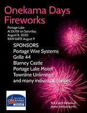 Onekama Days Lite  Fireworks August   8