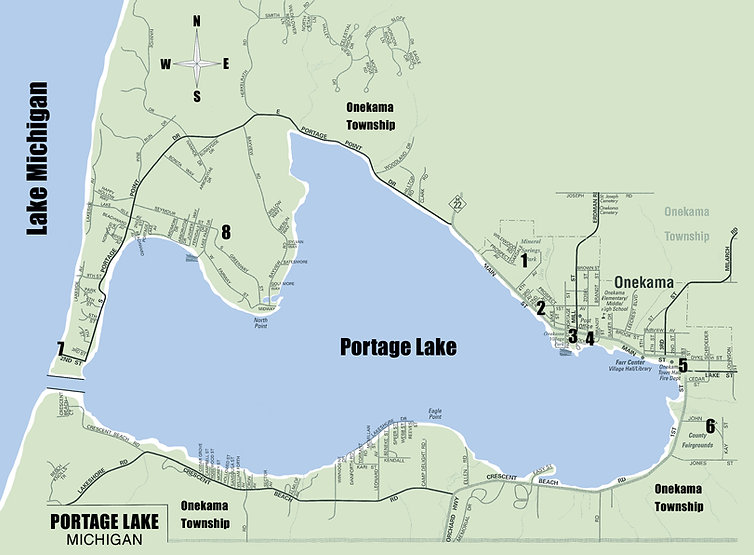 onekama parks map