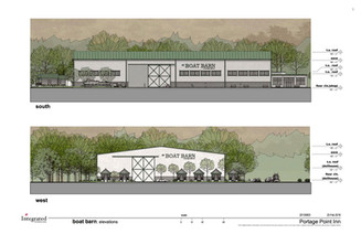 Boat Barn Renderings - South and West El