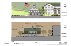 Boat House Rendering - North and East Vi