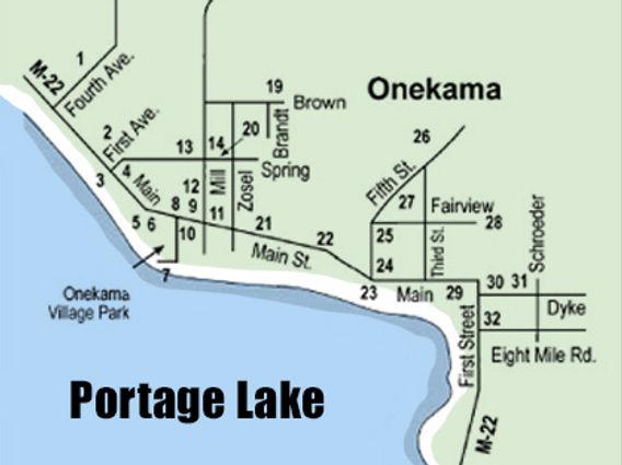 onekama historic sites map