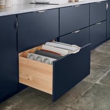 Navy drawers kitchen