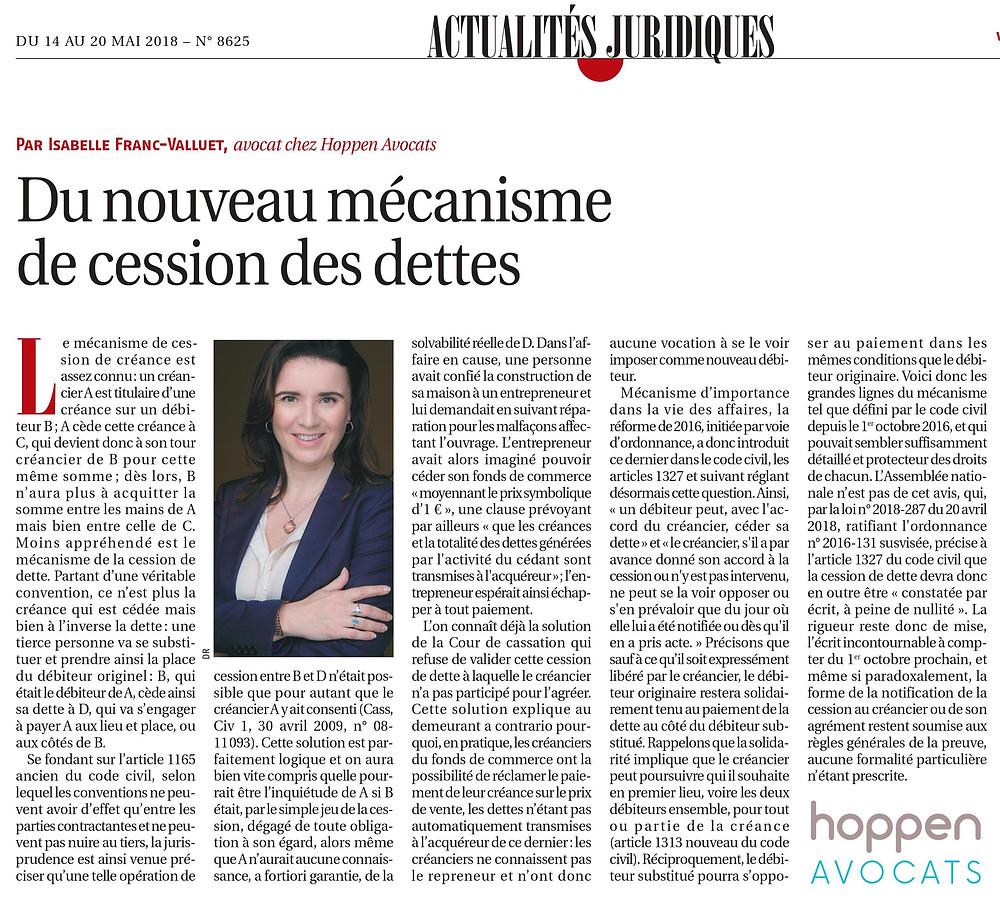 Article Paru à la Gazette du Midi du 14 au 20 mai 2018