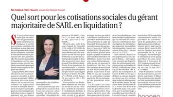 Cotisations du dirigeant majoritaire de SARL et liquidation de la société : où en sommes nous ?