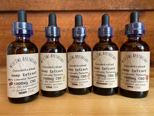 1,000mg Concentrated Hemp Extract