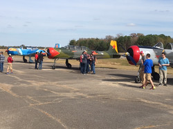 Each year our Veterans Celebration is supported by Yak and CJ-6 pilots from out of state They do a s