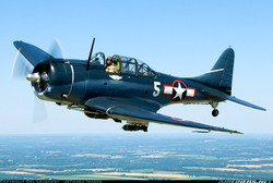 Dauntless Dive Bomber that won the Battle of Midway in WWII