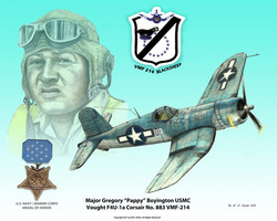 Medal of Honor Recipient Pappy Boyington