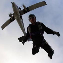 Skydive Alabama based at Cullman Airport performing demonstrations