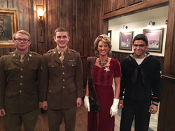 These Wallace College faculty and student reenactors made our 2016 veterans celebration special Each