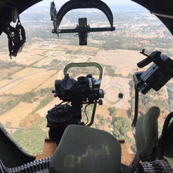 View from the nose of the B-17