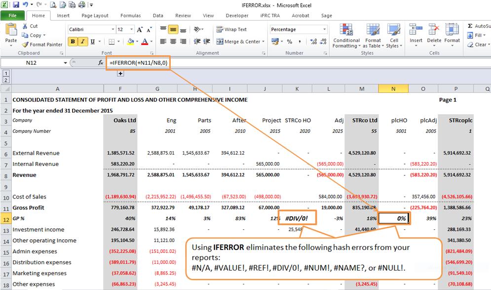 IFERROR Excel