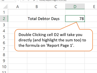 DOUBLE CLICKING TO A FORMULA
