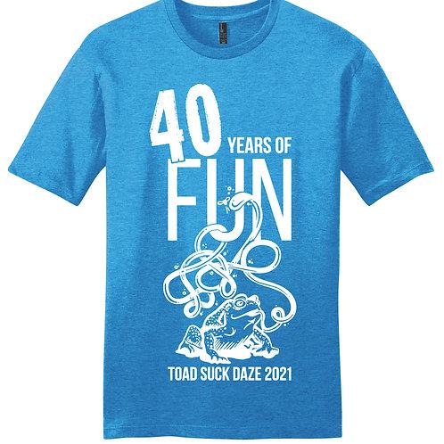 Blue 40th Anniversary Shirt