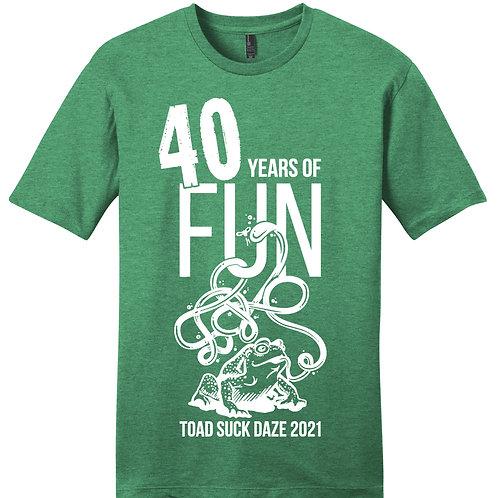 Green 40th Anniversary Shirt