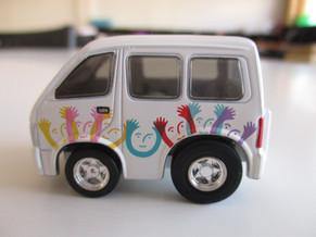 福祉車両チョロQをいただきました。