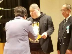 荒井勇輝さんが表彰されました。