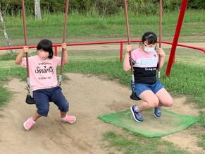 久々の外出で坂田池公園で遊びました。