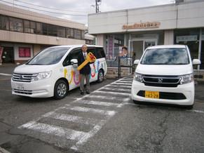 日本財団様より車両を2台頂きました。