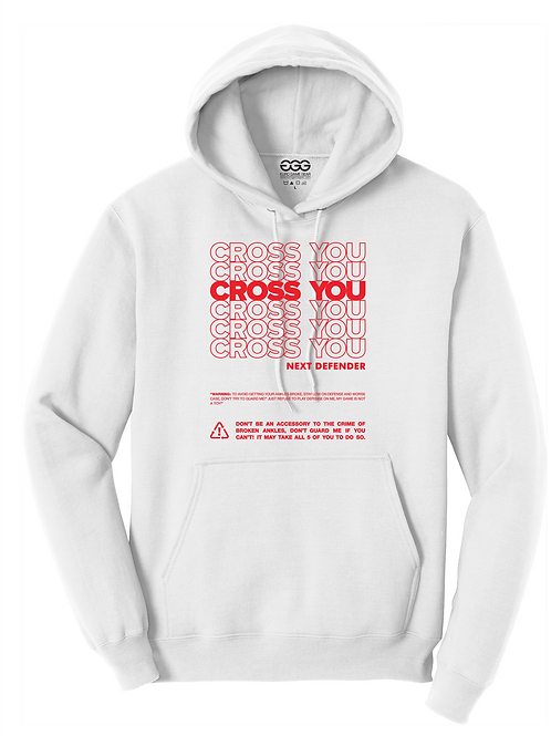 CROSS YOU- WHITE HOODIE