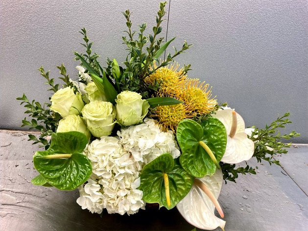 Green, Yellow and White Arrangement