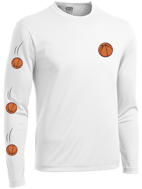STRAIGHT BUCKETS- YOUTH LONG SLEEVE (WHITE)