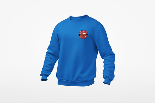 HUNGRY FOR BUCKETS- CREW NECK SWEATER Embroidery Logo (ROYAL BLUE)