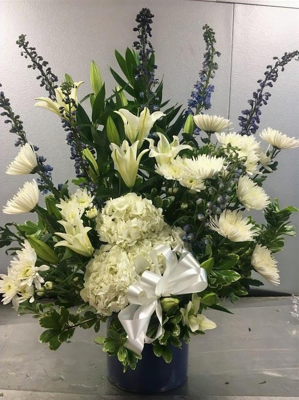 Romantic Blue and White Arrangement