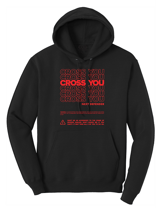 CROSS YOU-(YOUTH) BLACK HOODIE