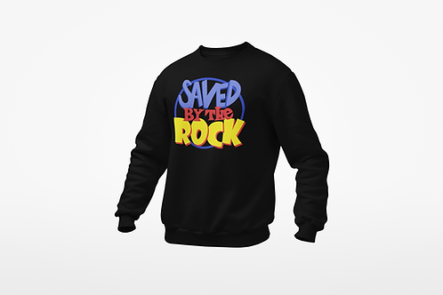 Saved By The Rock-Crewneck (Black)