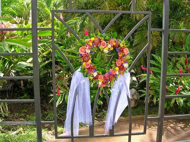 Rose Heart Wedding Wreath