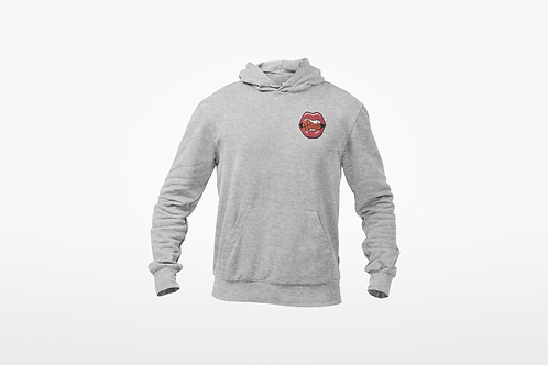 HUNGRY FOR BUCKETS HOODIE- Embroidery Logo (Heater Grey)